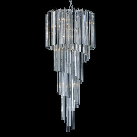 """Grace"" Murano glass chandelier - 8 lights - transparent"