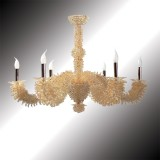 """Narciso"" 6 lights 24K gold Murano glass chandelier"