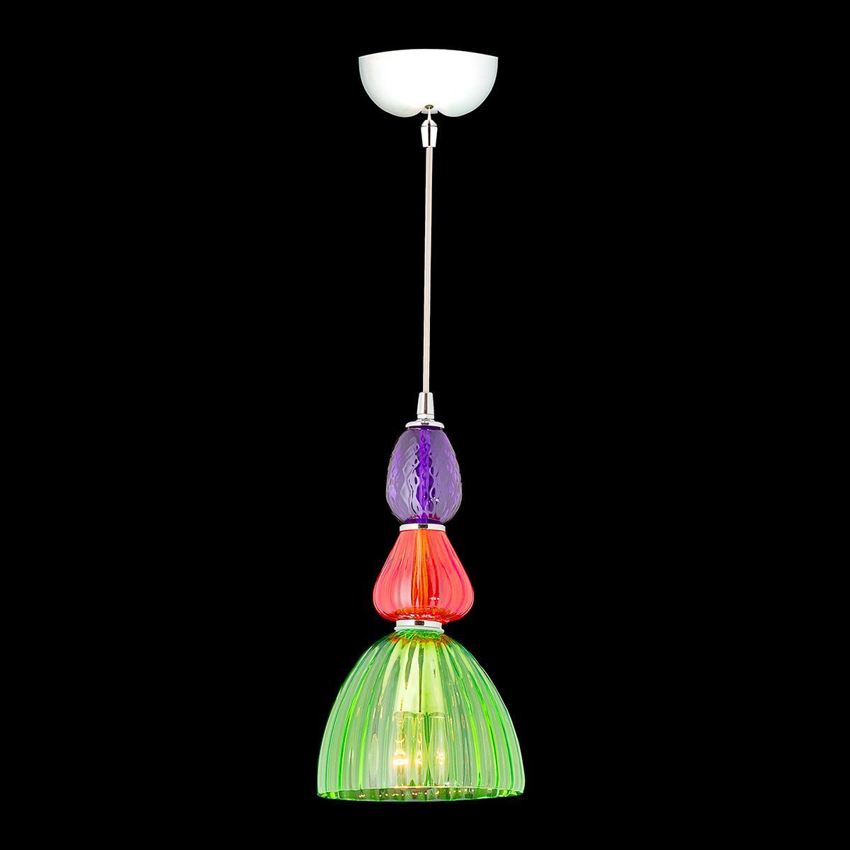 """Harvey"" Murano glass pendant light - 1 light - multicolor"