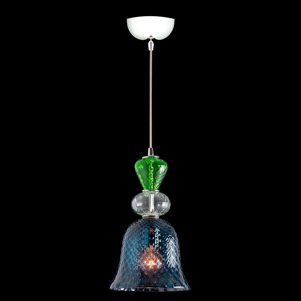 """Herbie"" lámpara colgante en cristal de Murano - 1 luce - multicolore"
