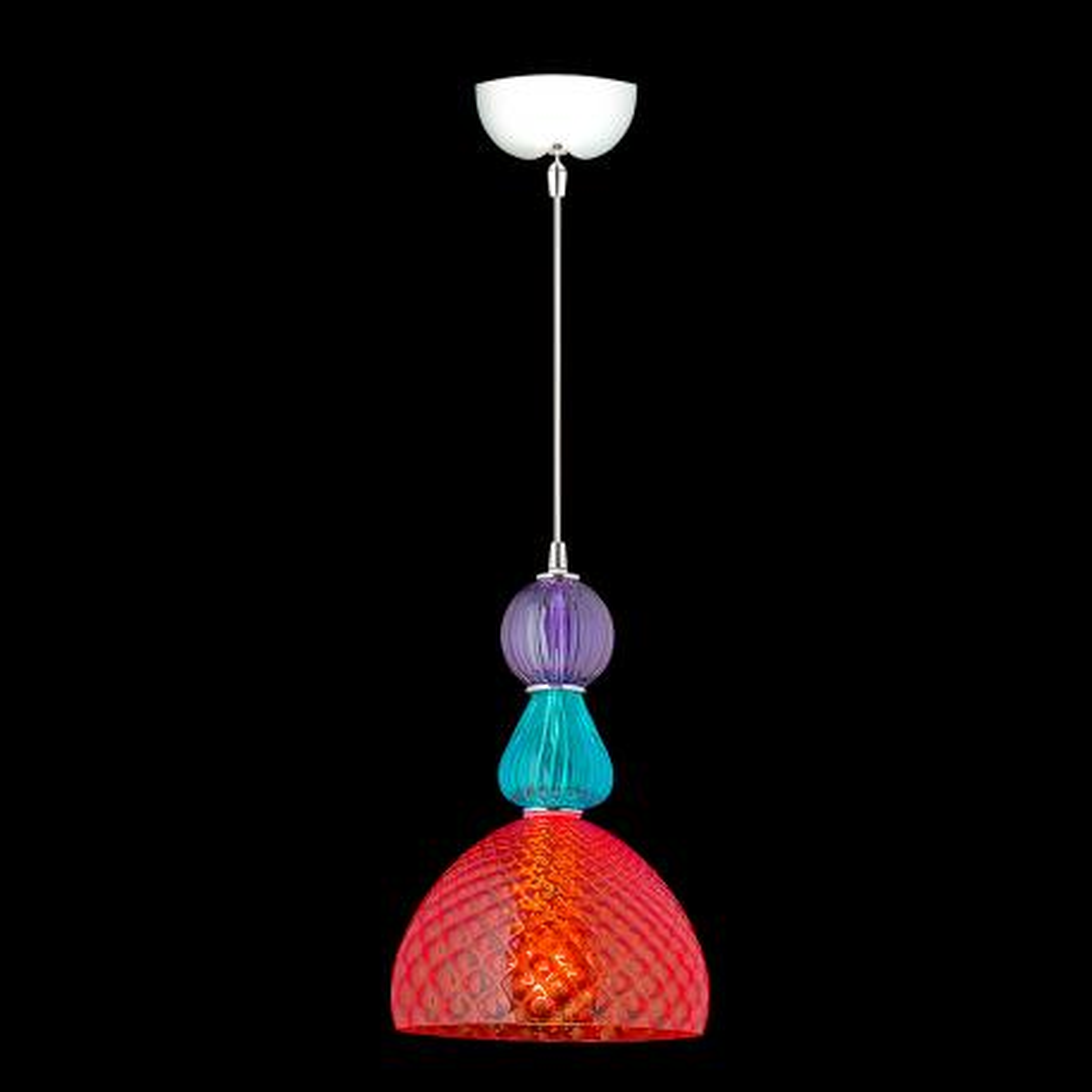 """Jeanne"" Murano glass pendant light - 1 light - multicolor"