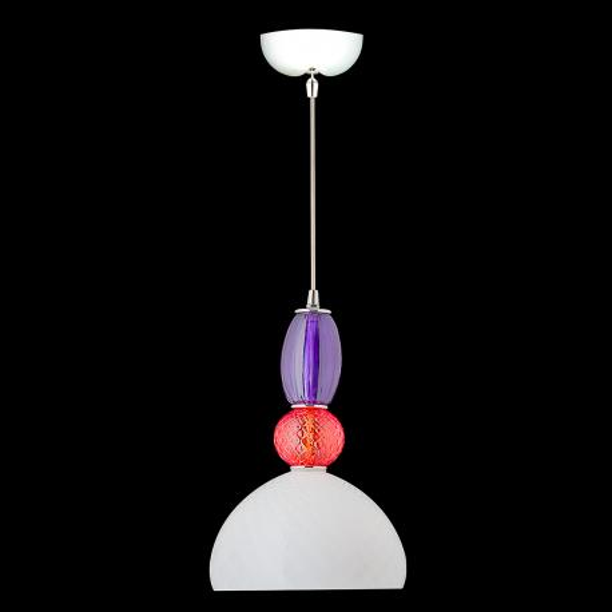 """""""Joaquin"""" Murano glass pendant light - 1 light - multicolor"""
