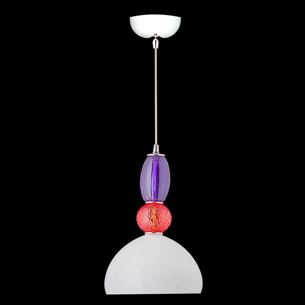 """""""Joaquin"""" suspension en verre de Murano - 1 lumière - multicolor"""