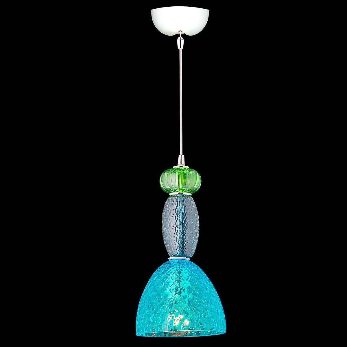 """""""Phoenix"""" suspension en verre de Murano - 1 lumière - multicolor"""