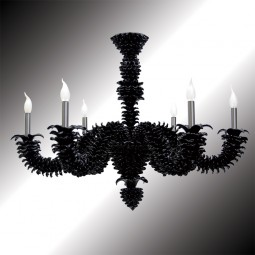 """Narciso"" black Murano glass chandelier"
