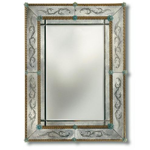 """""""Angelica"""" espejo veneciano de cristal de Murano"""