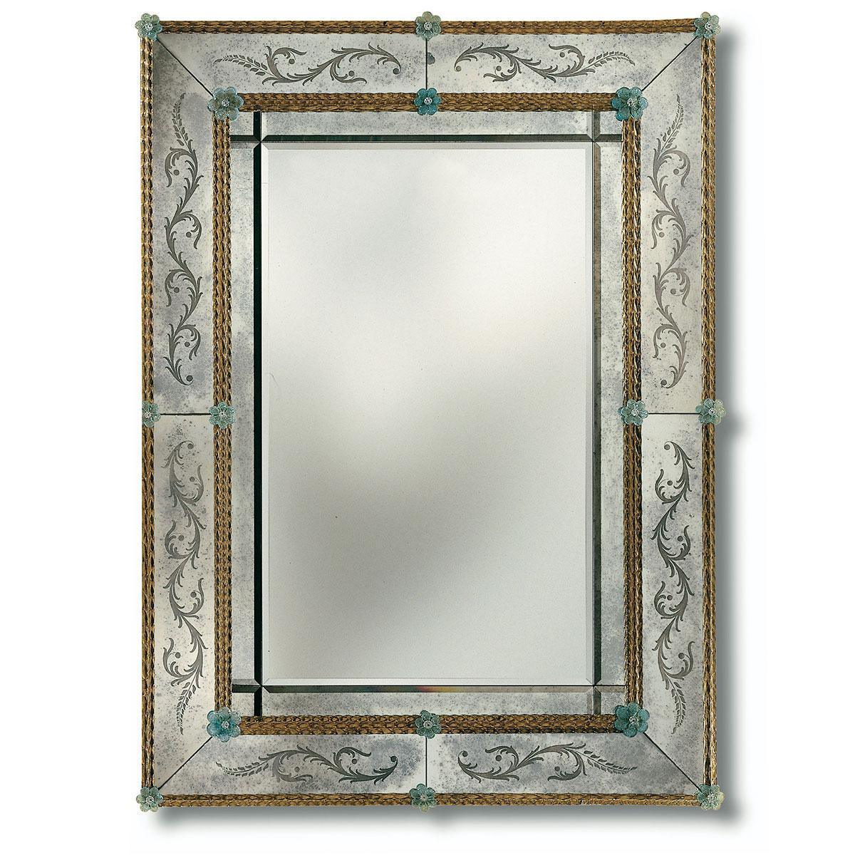 """""""Angelica"""" miroir vénitien en verre de Murano"""
