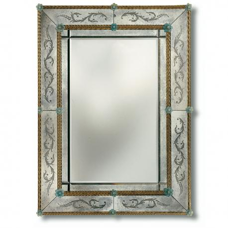 """Angelica"" Murano glass venetian mirror"