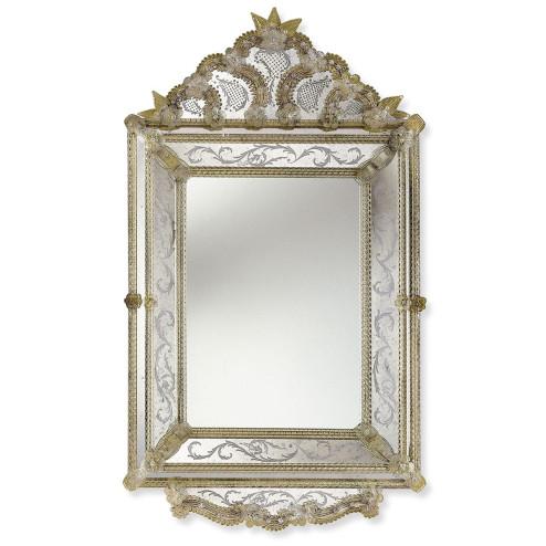 """""""Isadora"""" espejo veneciano de cristal de Murano"""