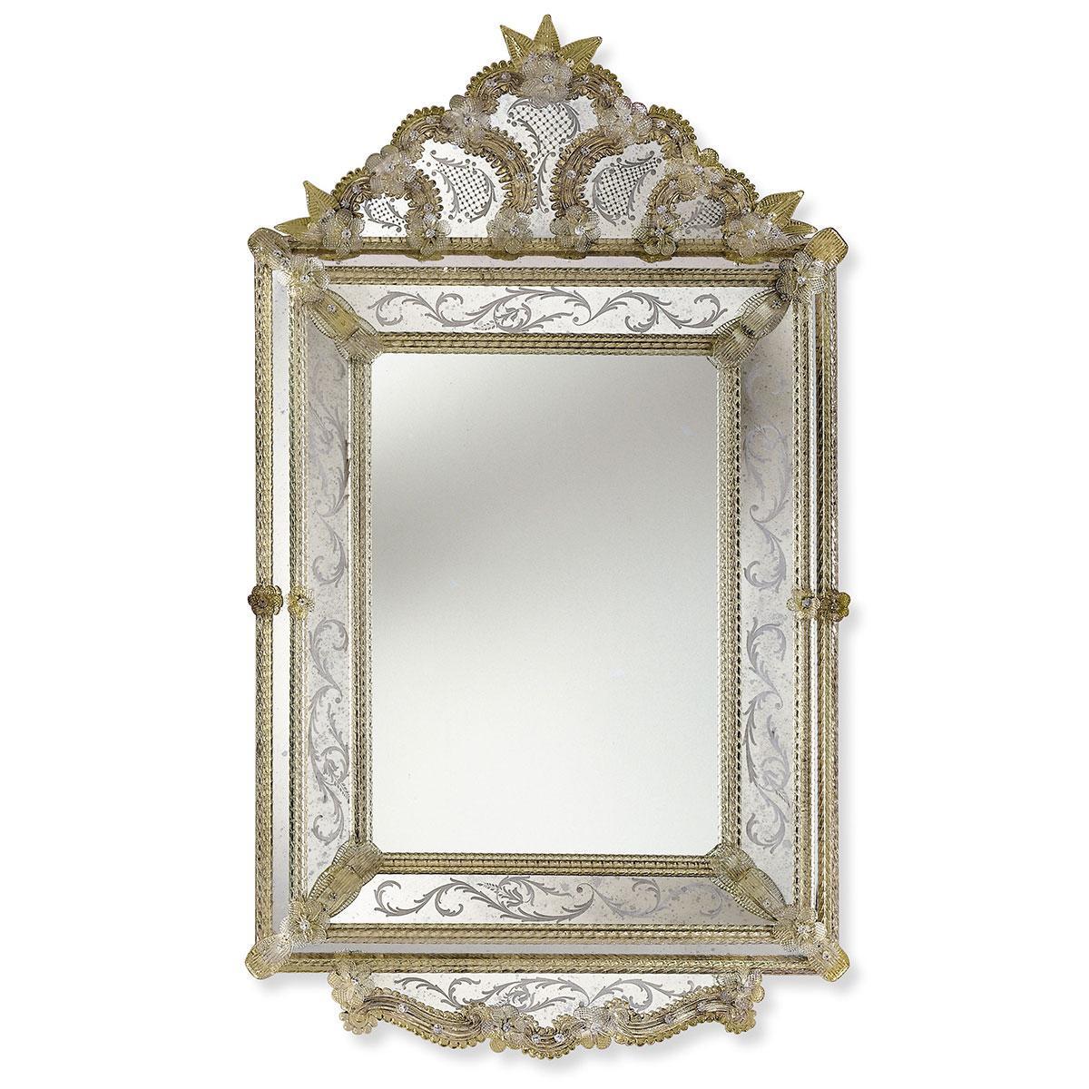 """Isadora"" miroir vénitien en verre de Murano"