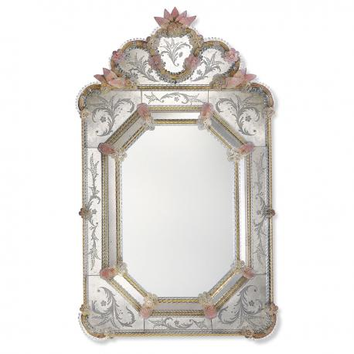 """""""Dafne"""" Murano glass venetian mirror"""