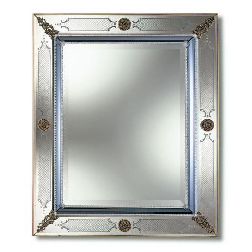 """""""Azzurra"""" miroir vénitien en verre de Murano"""