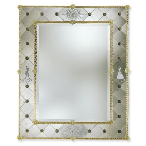 """""""Isotta"""" miroir vénitien en verre de Murano"""