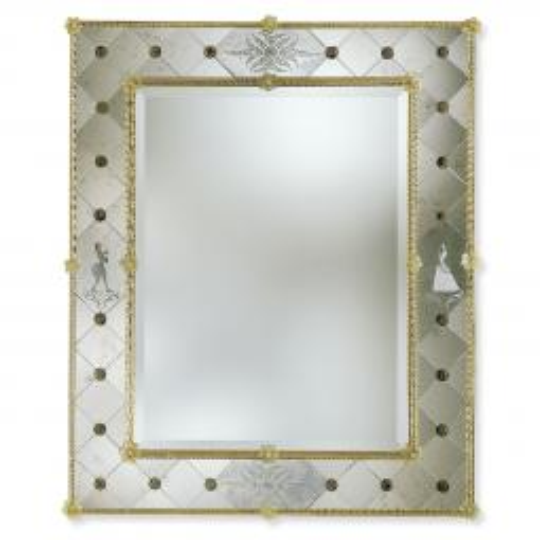 """""""Isotta"""" Murano glass venetian mirror"""