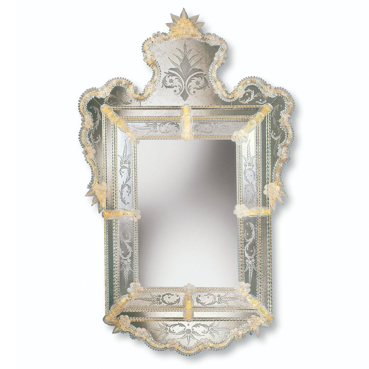 """""""Alberta"""" espejo veneciano de cristal de Murano"""