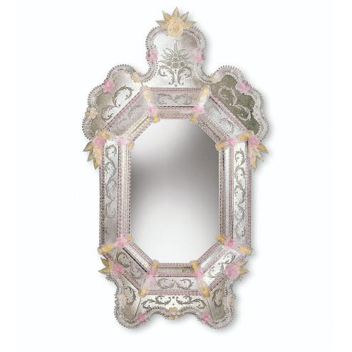 """""""Alina"""" espejo veneciano de cristal de Murano"""