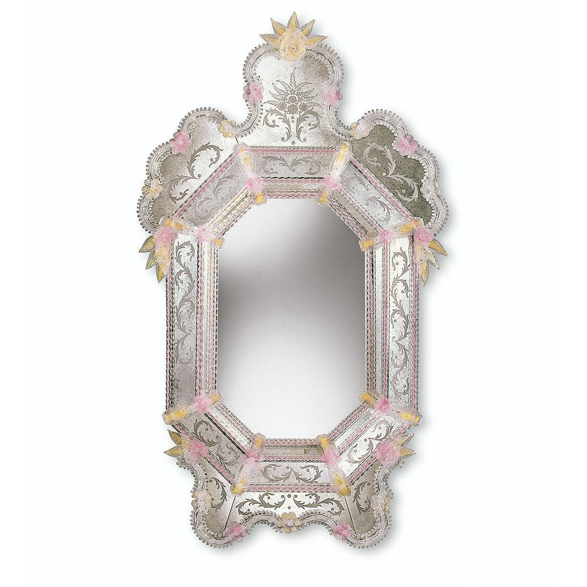 """""""Alina"""" miroir vénitien en verre de Murano"""