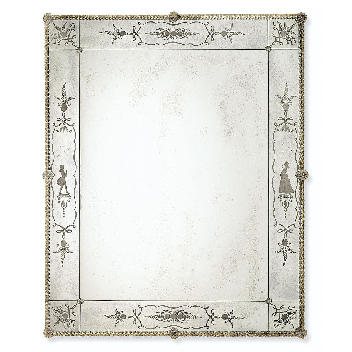 """""""Flaviana"""" espejo veneciano de cristal de Murano"""