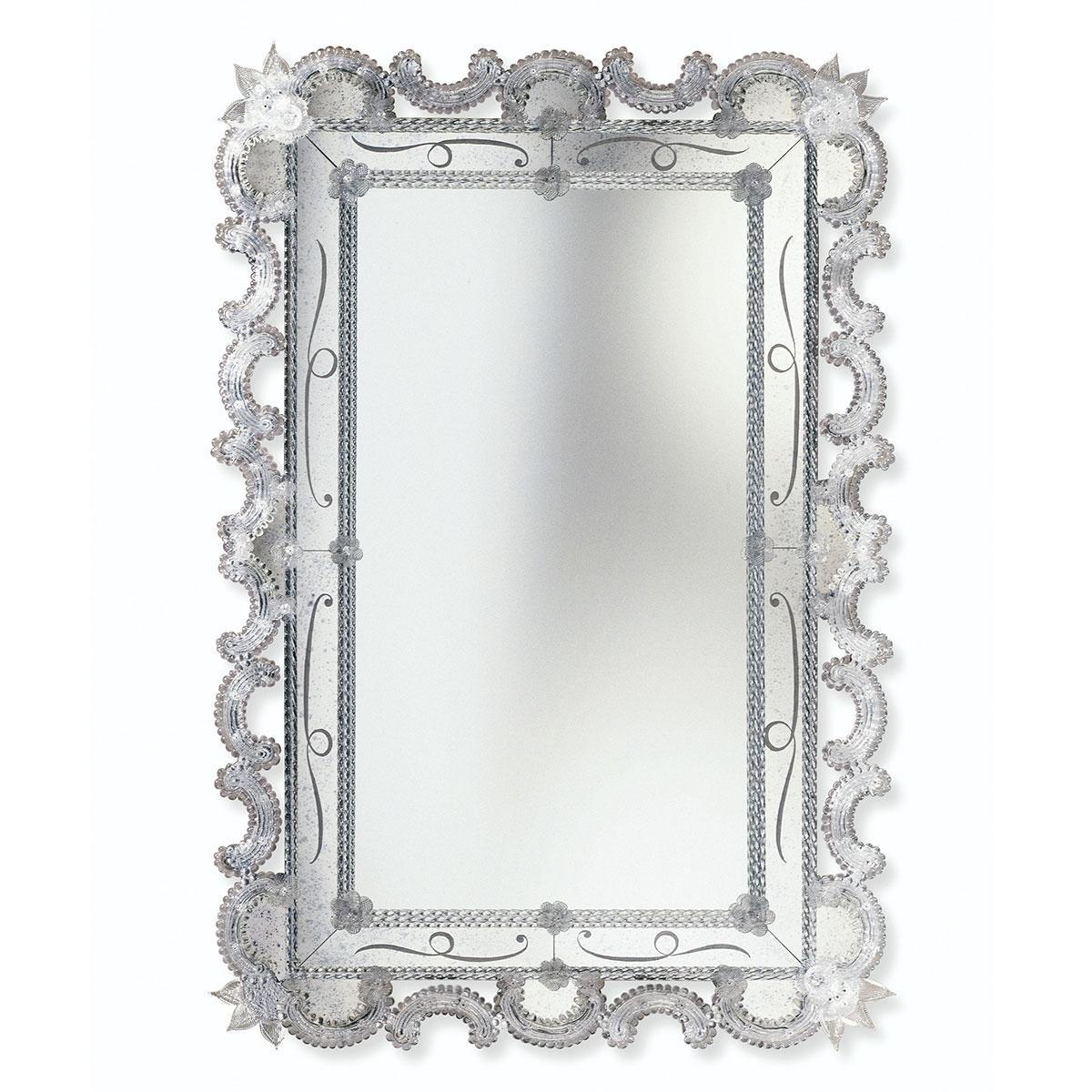 """Magda"" miroir vénitien en verre de Murano"
