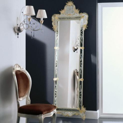 """""""Venere"""" miroir vénitien en verre de Murano"""