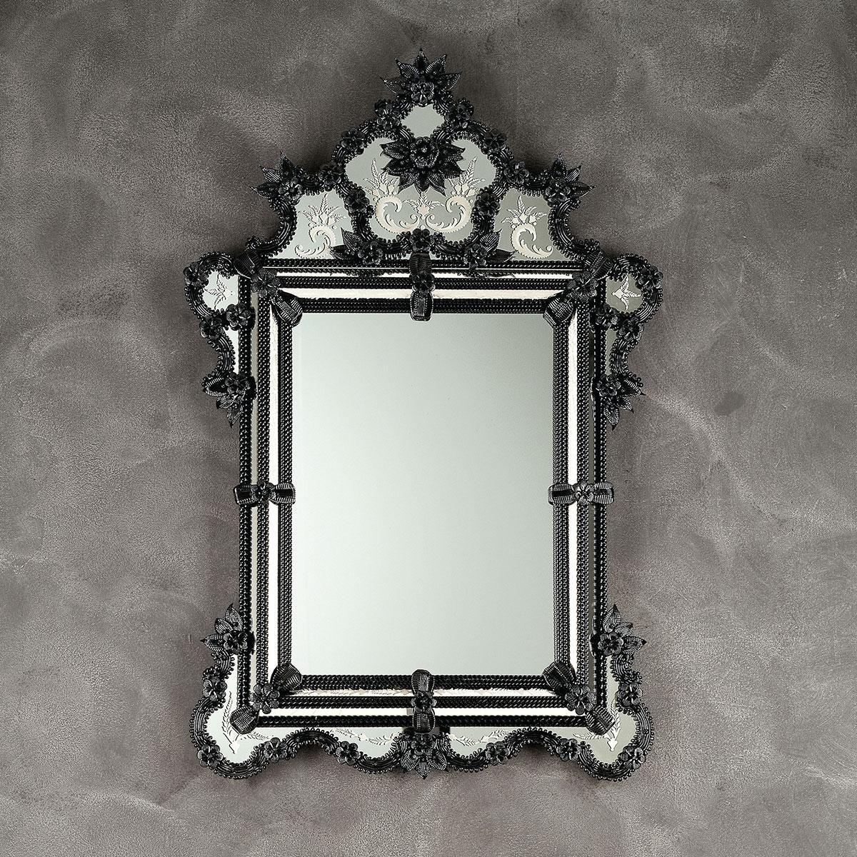 """""""Zelinda"""" miroir vénitien en verre de Murano"""