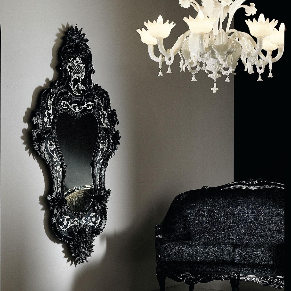 """""""Porzia"""" miroir vénitien en verre de Murano"""