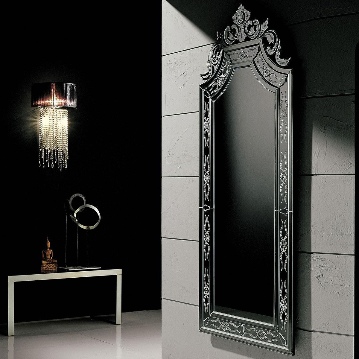 """Ornella"" espejo veneciano de cristal de Murano"