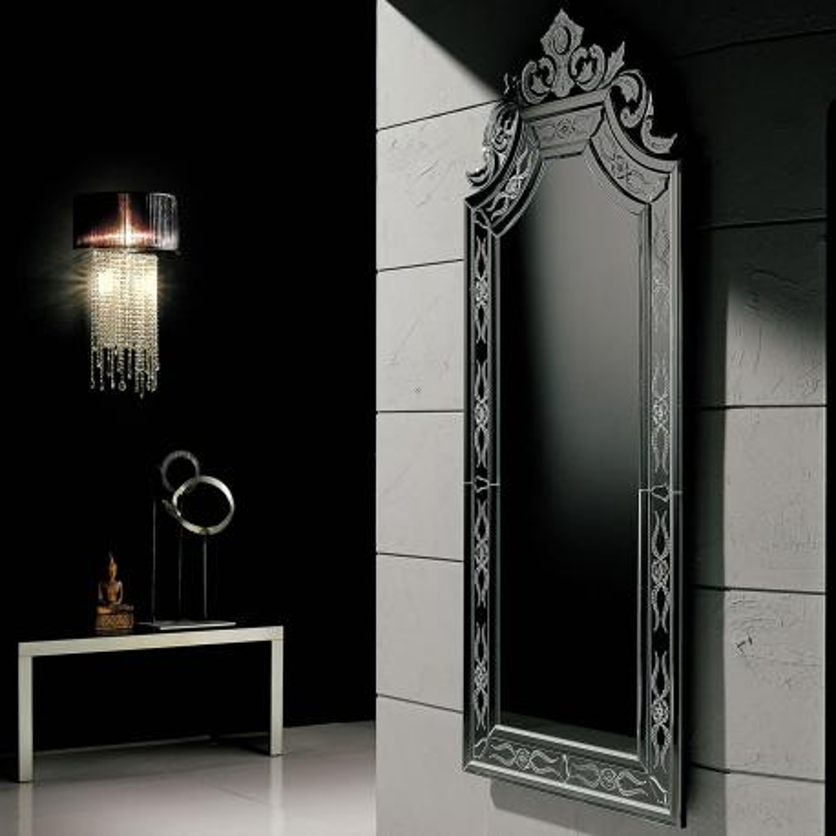 """""""Ornella"""" Murano glass venetian mirror"""