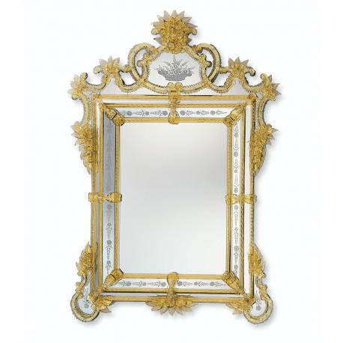 """Valentina"" miroir vénitien en verre de Murano"