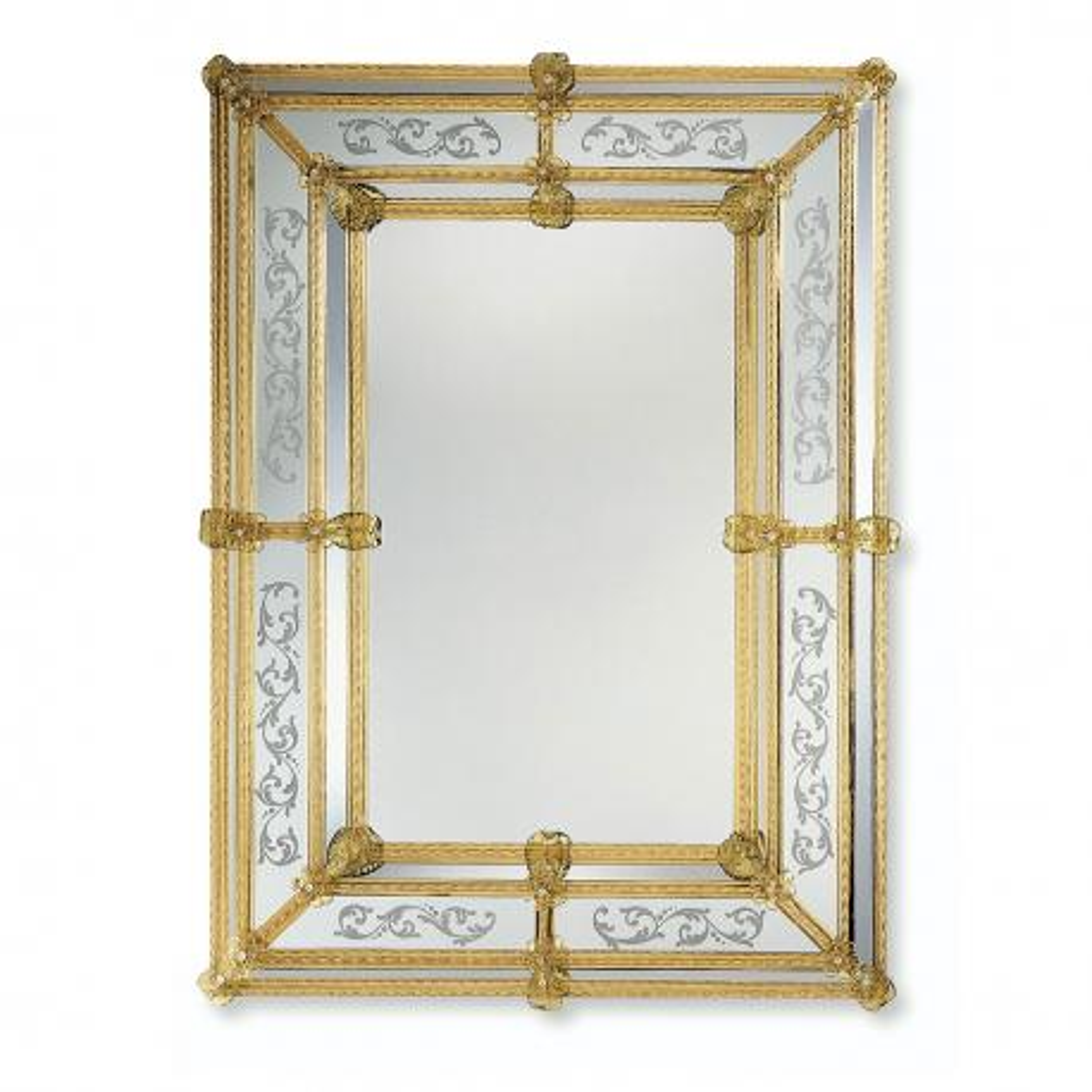 """""""Viola"""" Murano glass venetian mirror"""