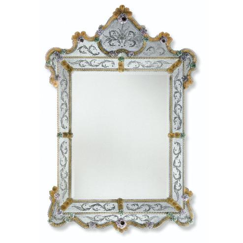 """Glenda"" espejo veneciano de cristal de Murano"
