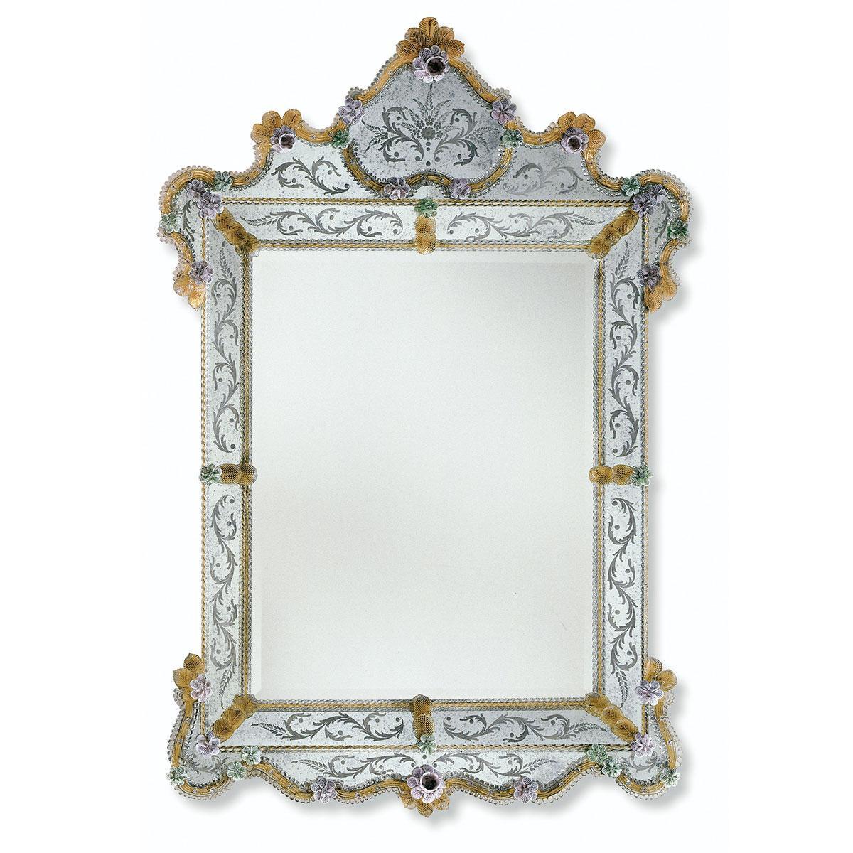 """""""Glenda"""" miroir vénitien en verre de Murano"""