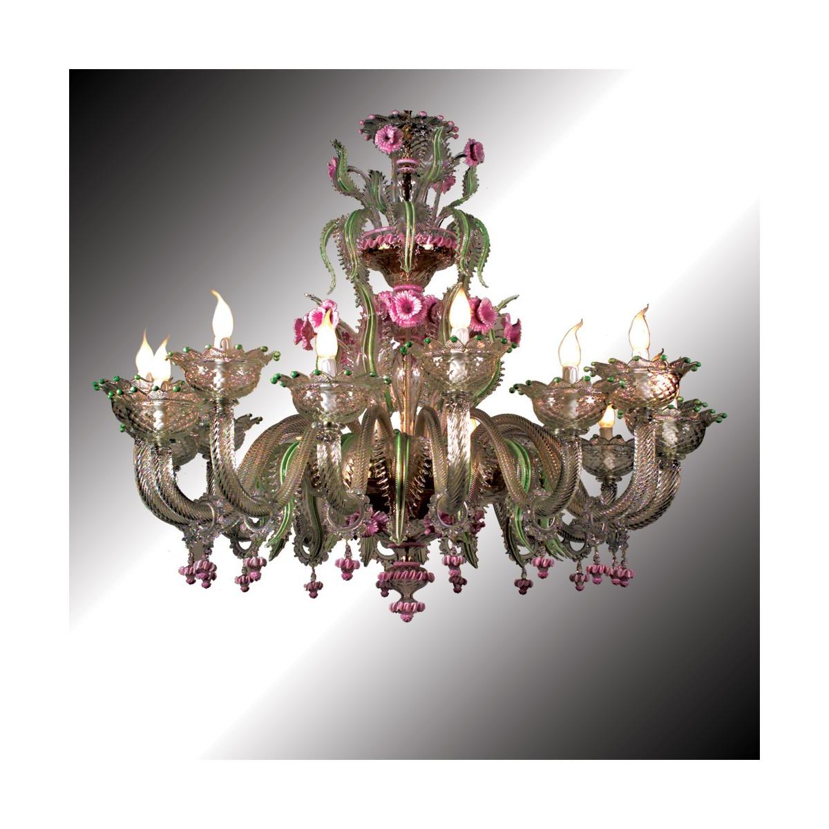 """""""Gritti"""" lustre en verre de Murano 16 lumières"""