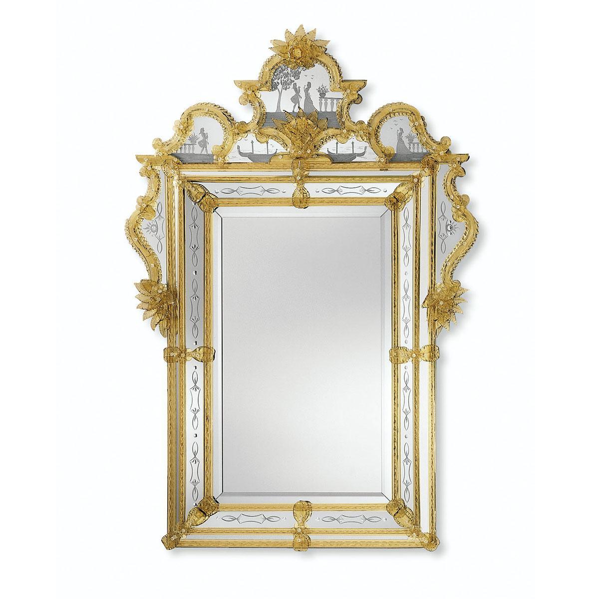 """""""Acilia"""" espejo veneciano de cristal de Murano"""