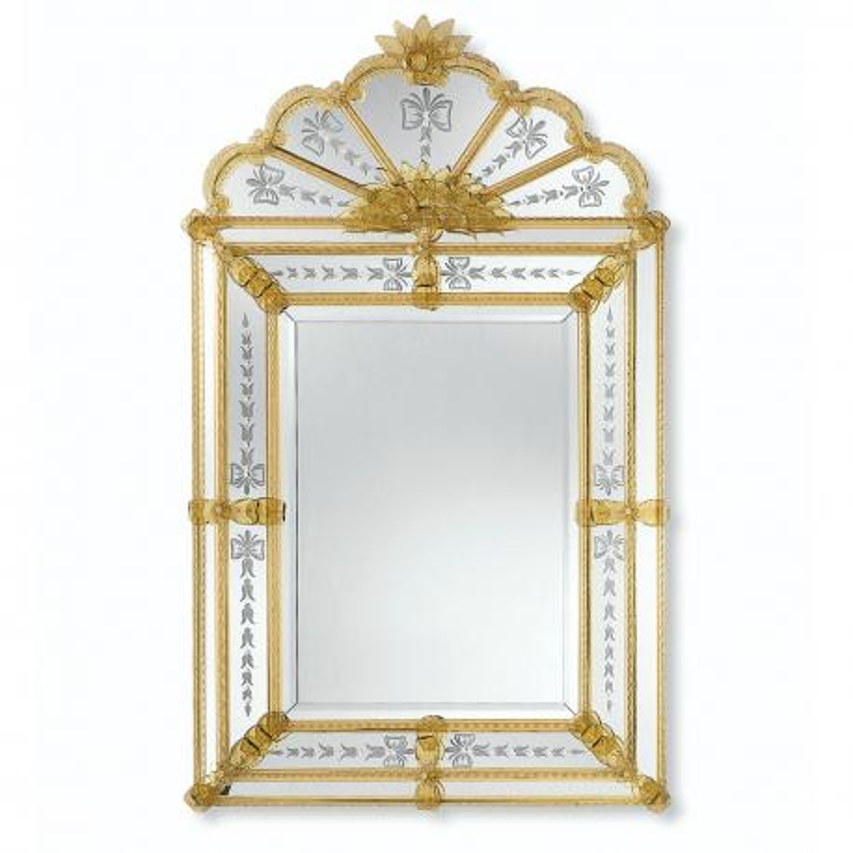 """""""Bernadetta"""" espejo veneciano de cristal de Murano"""