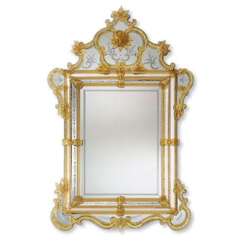 """""""Violante"""" Murano glass venetian mirror"""
