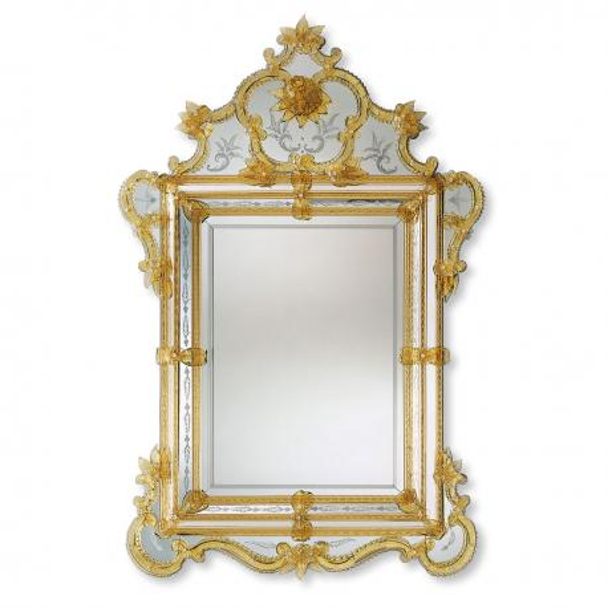 """Violante"" miroir vénitien en verre de Murano"