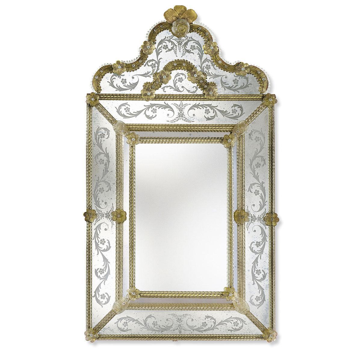 """""""Marianna"""" miroir vénitien en verre de Murano"""