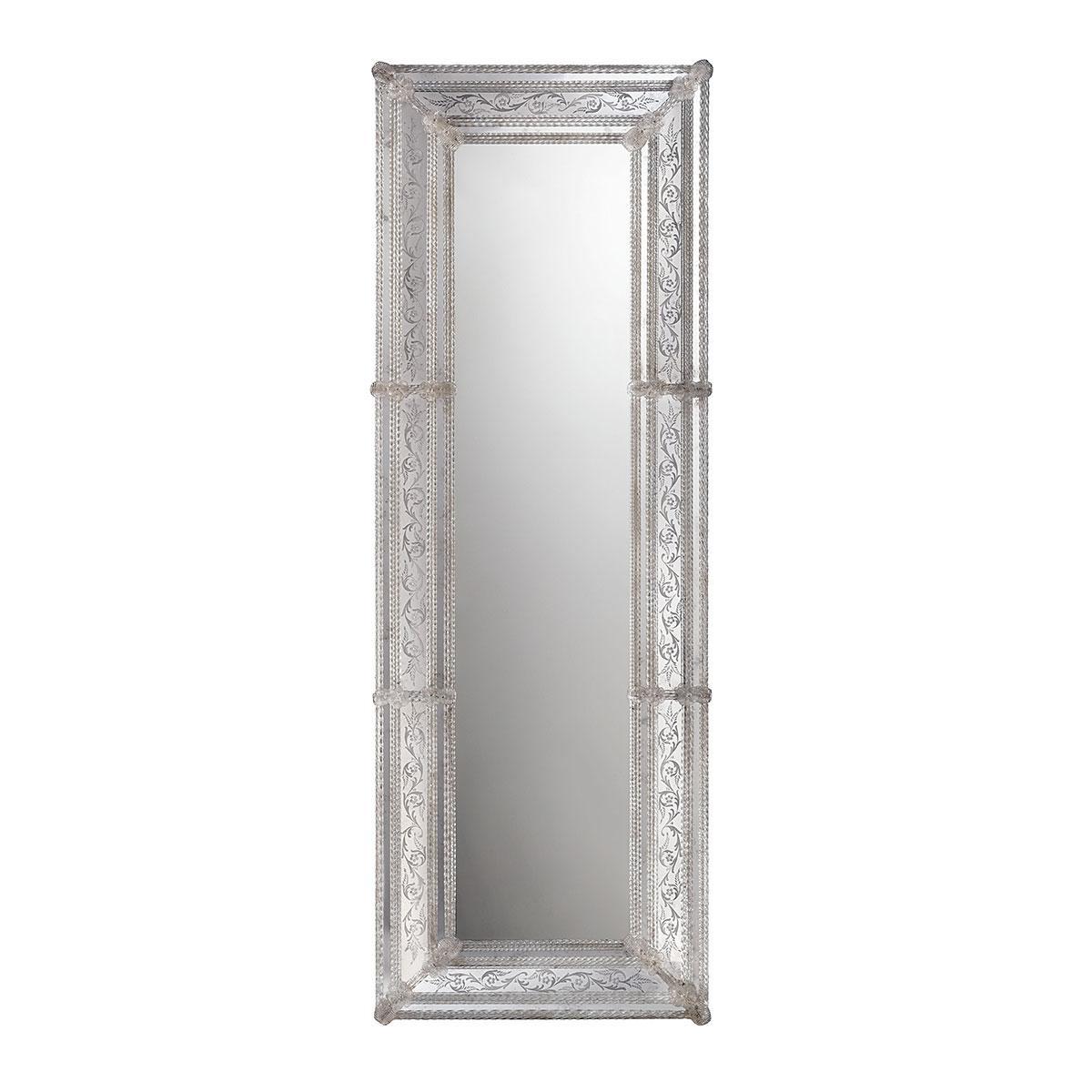"""""""Brigida"""" espejo veneciano de cristal de Murano"""