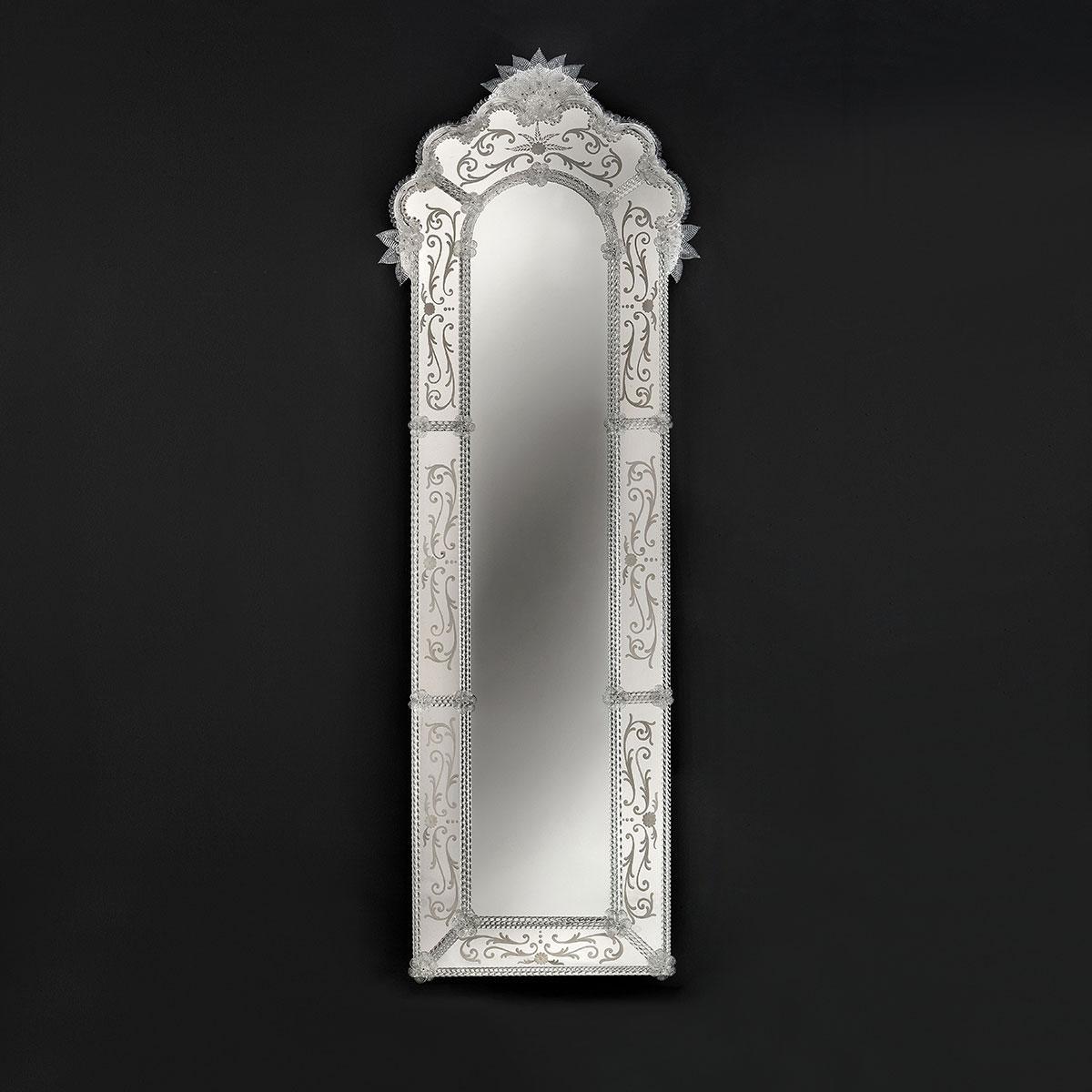 """""""Mirella"""" miroir vénitien en verre de Murano"""