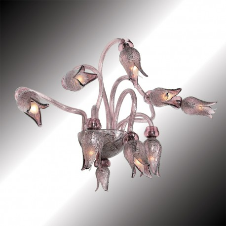 """Magma"" 8 lights Murano glass wall sconce"