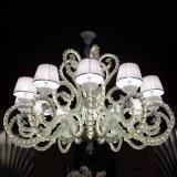 """Adelina"" Murano glass chandelier with lampshades"