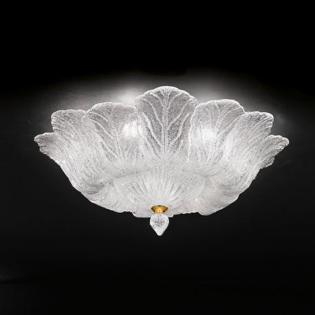 """Loretta"" Murano glass ceiling light - 8 lights - transparent"