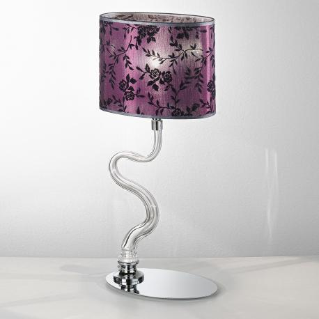 """Guendalina"" Murano glass bedside lamp - 1 light - transparent"