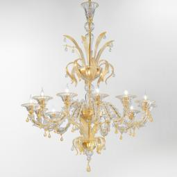 """Paradiso"" gold Murano glass chandelier"