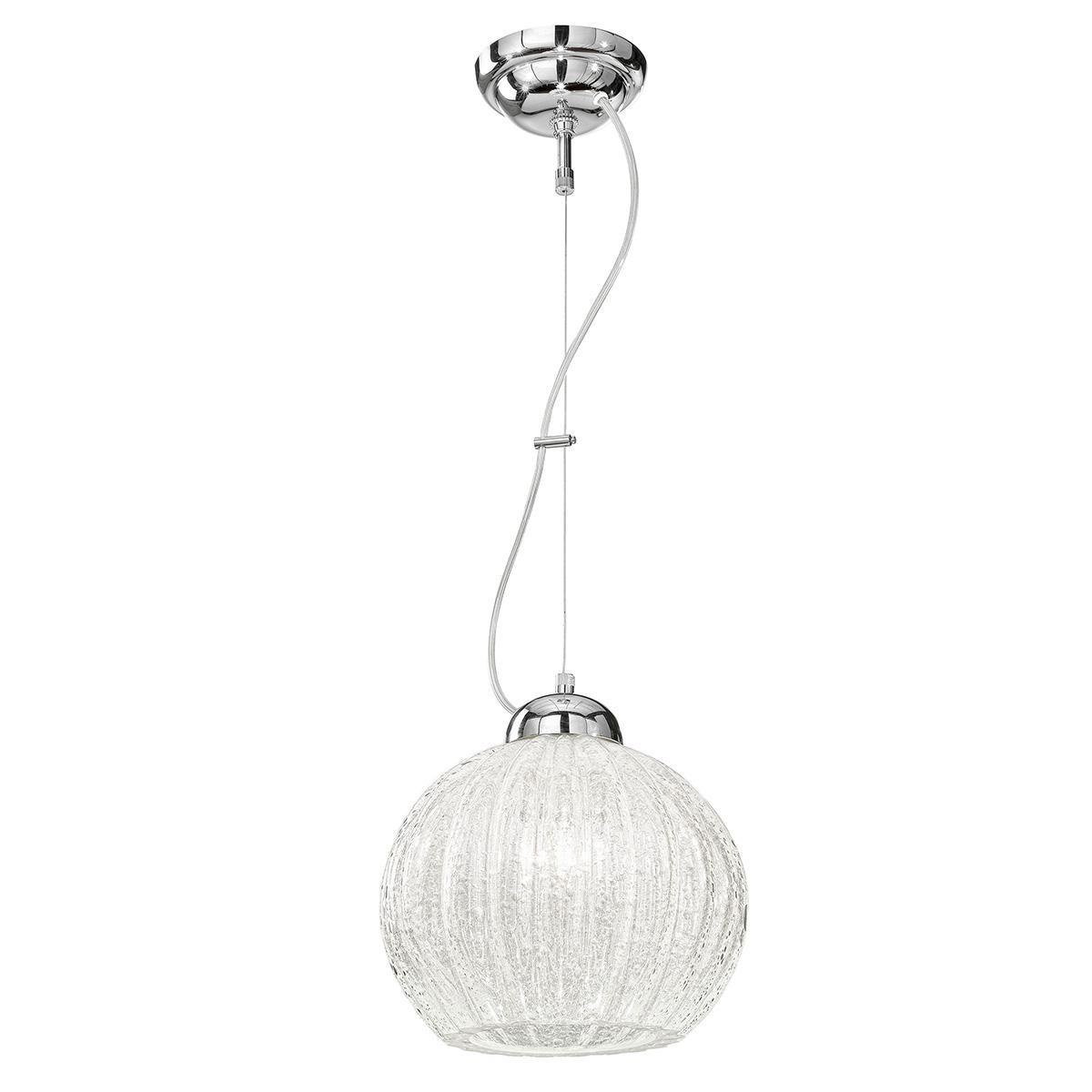 """""""Vanessa"""" lámpara colgante en cristal de Murano - 1 luce - hielo"""