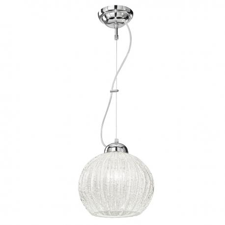 """Vanessa"" Murano glass pendant light - 1 light - ice"