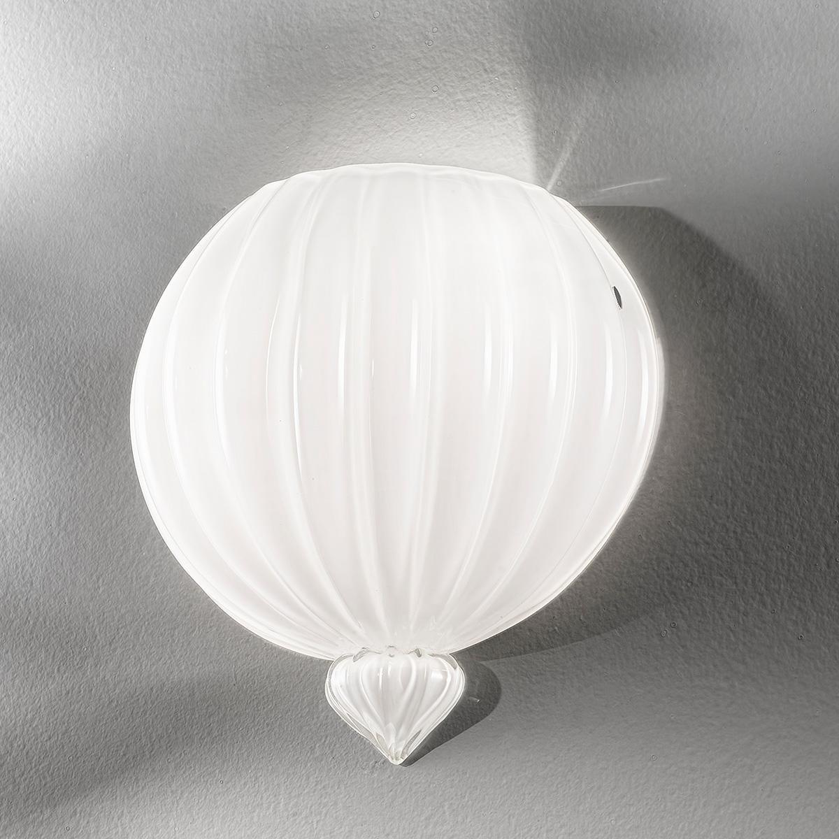 """Vanessa"" aplique de pared de Murano - 2 luces - blanco"