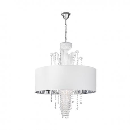 """Innocenza"" Murano glass pendant light - 6 lights - white"