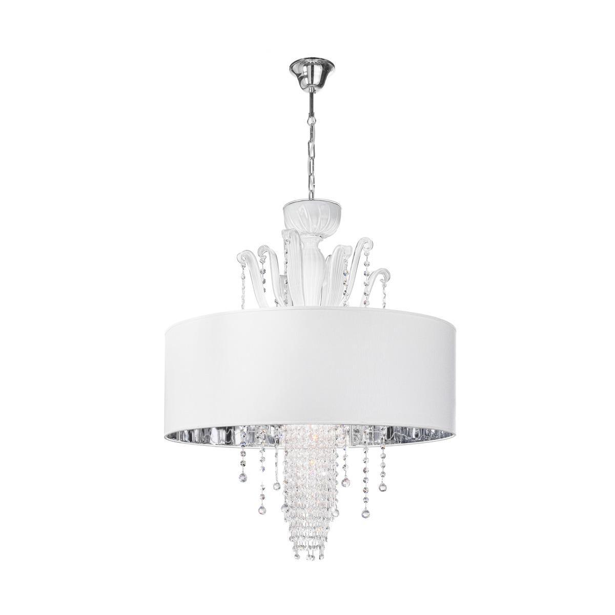 """Innocenza"" Murano glass pendant light - 6 lights - white"